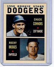 Chuck Connors & Rocky Bridges 1950 Brooklyn Dodgers rookie stars Pastime #3