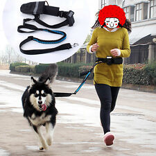 Pet Dog Puppy Lead Leash Walking Jogging Running Waist Snack Bag Belt Hands Free