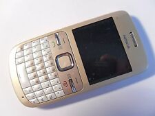 Nokia C3-00 - Golden White (Unlocked) Mobile Phone - QWERTY Keyboard C3