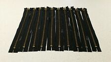 Lot Of 10 YKK 8 Inch Closed End Zippers Black
