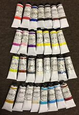 "Gamblin Artist Oil Colors Lot Of ""30"" Paint Tubes Series 1-6 37ml BRAND NEW"