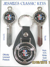 Black Mustang Pony Deluxe Classic White Gold Key Set 1967 1968 1969 NOS