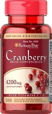 Puritan's Pride Cranberry Fruit Concentrate with Vitamin C Vitamin E Made in USA