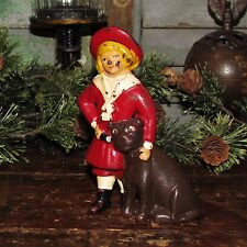 Antique Vtg Williams Cast Iron Toy RED Buster Brown Tige Still Penny Still Bank
