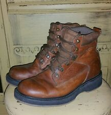 VINTAGE HITCHCOCK 8 XWIDE BROWN LEATHER ULTRA LIGHT WORK BOOTS GRUNGE HIPSTER