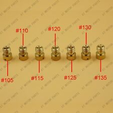 7pcs GY6 125 150cc Carburetor Main Jet 157QMJ #105 #110 #115 #120 #125 #130 #135