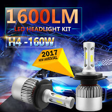 2x 160W 16000LM LED H4 9003 HB2 Headlight Kit High/Low Beam Head Fog Light Bulbs