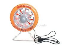 USB Cooling Fan Portable Rechargeable Battery Mini Car Tire Wheel Orange