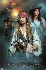 DISNEY PIRATES OF THE CARIBBEAN ON STRANGER TIDES GROUP POSTER 22x34 NEW