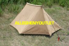 WWII US Army Military Pup Tent 2 Shelter Halves w/ Poles & Stakes No Date VGC