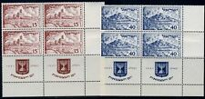 ISRAEL  SC#46/47 TAB BLOCK MINT NH ONE TAB IS HINGED  ALSO HINGED IN SELVAGE
