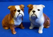 QUAIL CERAMIC BULLDOG BULL DOG SALT & PEPPER POTS CONDIMENT OR CRUET SET