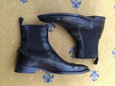 Gucci Men's Shoes Black Leather Chelsea Dealer Boots UK 9 US 10 EU 43