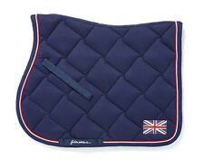 JOHN WHITAKER NAVY UNION JACK BLING CLOSE CONTACT SADDLE CLOTH SIZE COB