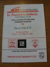 17/03/1988 St Patricks Athletic v Derry City  (No obvious faults)