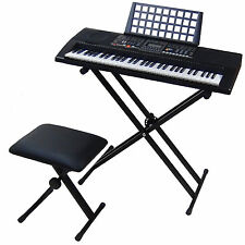 Clavier DynaSun MK906 USB MIDI LCD 61 Touches E-Piano Keyboard + Support Banc