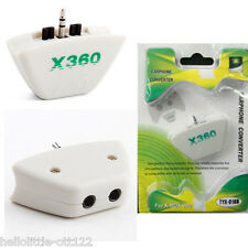 Earphone Converter For Xbox 360 3.5mm Mic Headset Adapte Headphone Game White