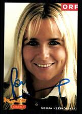 Sonja Kleindienst ORF Autogrammkarte Original Signiert ## BC 25879