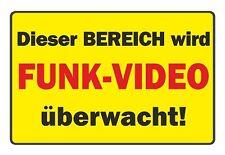 Schild: Dieser Bereich wird mit FUNK-VIDEO überwacht! wetterfestes PVC-Schild