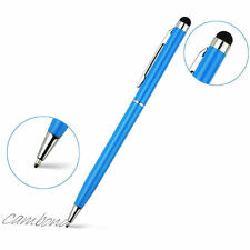 2-in-1 Touch Screen Pen Stylus + Ballpoint Pen For iPhone Smartphone Tablet Blue