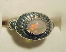 Genuine Ethiopian Welo Opal Ring in 925 Sterling Silver sz 8
