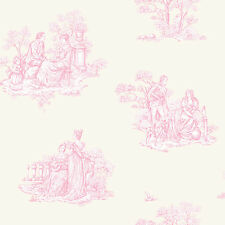Amour Traditionnel Rose Toile de Jouy Papier peint 204216