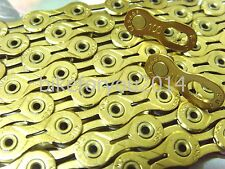 bike4u 2016 Edition 112 Links KMC X10SL Chain Gold - for 10Speed Road/MTB bike