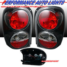 "02-07 JEEP LIBERTY BLACK ALTEZZA STYLE TAIL LIGHTS PAIR BULBS INCLUDE ""IN STOCK"""