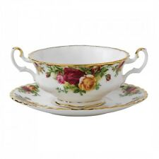 Royal Albert Old Country Roses Cream Soup & Saucer, Set of 4