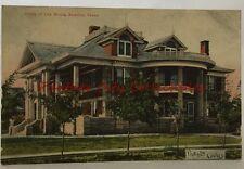 Antique Postcard 1908 Home of Rancher Oil Man Lee Bivins Amarillo Texas Cooley