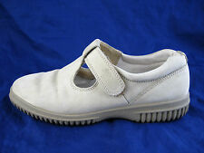 Ecco Soft womens ladies loafers sz 6 37 beige off white suede flats shoes