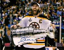 Zdeno Chara Boston Bruins Signed Autographed Holding Stanley Cup 8x10