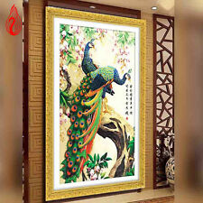 YGS-26 5D DIY Embroidery Peacock wealth and good fortune Diamond Painting Kits