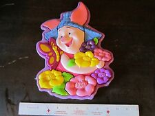 Winnie the Pooh PIGLET & FLOWERS Baby Activity Plastic Puzzle Disney Toy Cute