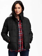 OLD NAVY Frost Free Quilted Puffer Winter Jacket Size XL Black NEW NWT