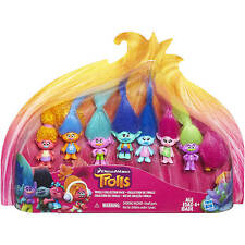 TROLLS Collection Pack 8 Dolls Exclusive Collector's Set Dreamworks Movie 2016