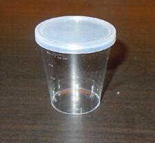 50 x 80ML Shot glass / desert cup, clear 80ml  Polystyrene shot glass with Lids