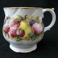 Vintage Queens Rosina Fine Bone China 5057j Cup Blueberry Strawberry Pear Plums