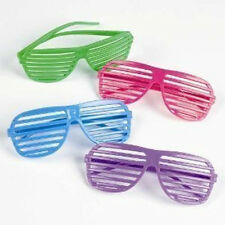 12pcs Rhode Island Novelty 80's Slotted Toy Sunglasses Fake Glasses Party Favors