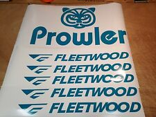 Fleetwood prowler RV sticker decal graphics trailer camper rv prowler small Teal