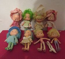 Lot of 8 Vintage 1979 Strawberry Shortcake Dolls American Greetings