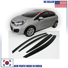 NEW SMOKED DOOR VISOR WINDOW SUN VENT DEFLECTOR KIA RIO HATCHBACK 2012-2016