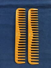 "(2 PCS) ANNIE WIDE TOOTH COMB  7.5"" x 1.5"" GREAT DETANGLING COMB #44"