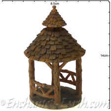 Vivid Arts Miniature World /Mini Woodland Gazebo - Fairy Garden Gazebo -14cm