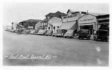 Photo. ca 1945. Quesnel, BC Canada. Front St - autos