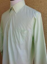 Awesome Ike Behar Men's Green Shirt  L/S  Shirt Size 16 XL  D98