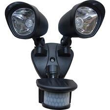 NUOVO LED Faretto doppio PIR Proiettore 2x 3W Super luminosa LED Ogni