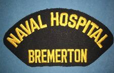 Vintage 1990's US Navy Naval Hospital Bremerton Jacket Hat Patch Crest 096
