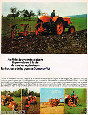 PUBLICITE ADVERTISING 055  1968  SOMECA-FIAT  tracteur tracteur-chenille agricul