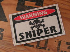 SNAKE PATCH ..:: WARNING SNIPER ::.. AIRSOFT PAINTBALL US TAN / SABLE